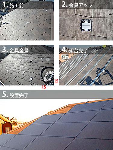 ソーラーフロンティアスレート施工方式